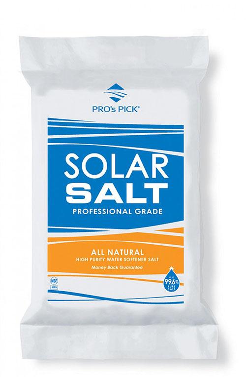 Solar Salt: All Natural - High Purity Softener Salt (40 lbs)